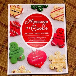 Williams Sonoma holiday message cookie cutter NIB